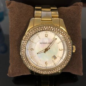 Michael Kors gold watch with diamonds